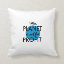 Environmental Protection - planet emergency for Throw Pillow