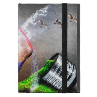Environmental Protection Sea Turtle & Ship Picture Cover For iPad Mini