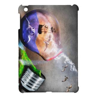 Environmental Protection Sea Turtle & Ship Picture iPad Mini Cases