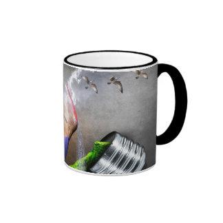 Environmental Protection Sea Turtle & Ship Picture Ringer Mug
