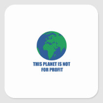 environmental protection square sticker