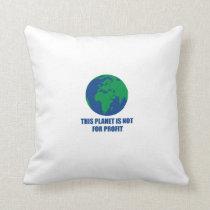 environmental protection throw pillow
