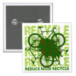 Environmental reCYCLE Pinback Button