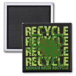 Environmental reCYCLE Refrigerator Magnets