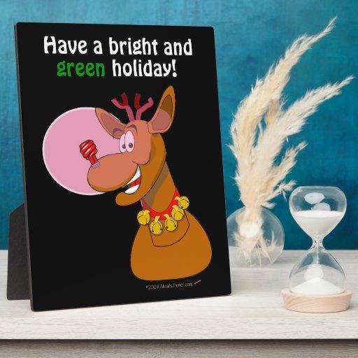 Environmental Rudolph Funny Reindeer Xmas Custom Photo Plaque