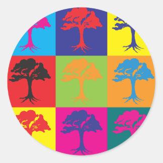 Environmental Science Pop Art Classic Round Sticker