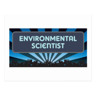 Environmental Scientist Marquee Postcard