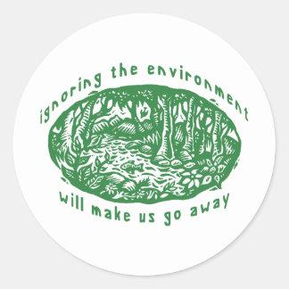 Environmental Classic Round Sticker