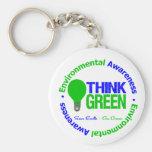 Environmental THINK GREEN Bulb Keychain