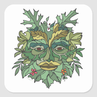Environmental Tree Hugger Square Sticker