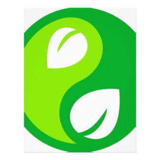 Environmental Yin Yang Customized Letterhead