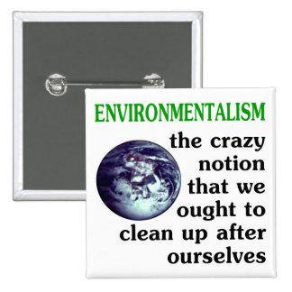 Environmentalism Defined Pinback Button