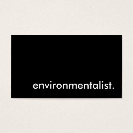 environmentalist. business card