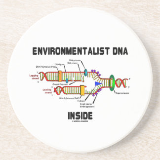 Environmentalist DNA Inside (DNA Replication) Sandstone Coaster