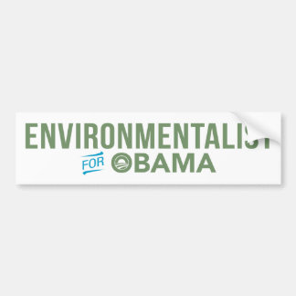 Environmentalist For Barack Obama Bumper Sticker Car Bumper Sticker