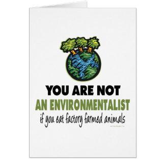 Environmentalist = Vegan, Vegetarian Card