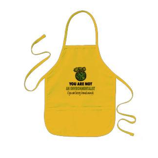 Environmentalist = Vegan, Vegetarian Kids' Apron