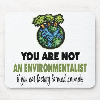 Environmentalist = Vegan, Vegetarian Mouse Pad