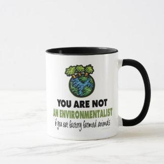 Environmentalist = Vegan, Vegetarian Mug