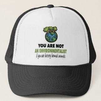 Environmentalist = Vegan, Vegetarian Trucker Hat
