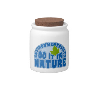 Environmentalists custom candy jar
