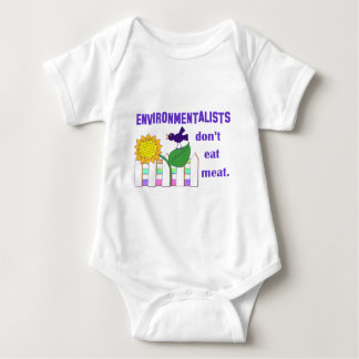 ENVIRONMENTALISTS DON'T EAT MEAT BABY BODYSUIT