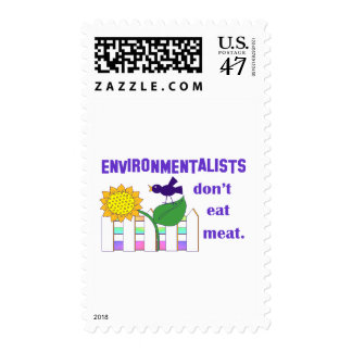 ENVIRONMENTALISTS DON'T EAT MEAT POSTAGE