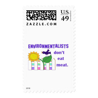 ENVIRONMENTALISTS DON'T EAT MEAT POSTAGE STAMPS