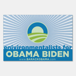Environmentalists for Obama Sign