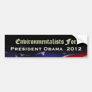 Environmentalists For President Obama 2012 Sticker