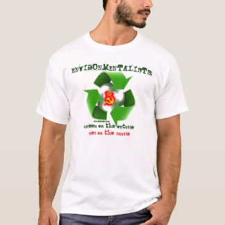Environmentalists: green outside, red inside T-Shirt