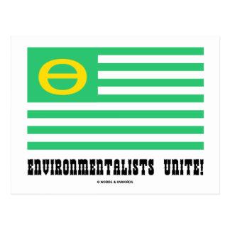 Environmentalists Unite! (Ecology Flag Theta) Postcard
