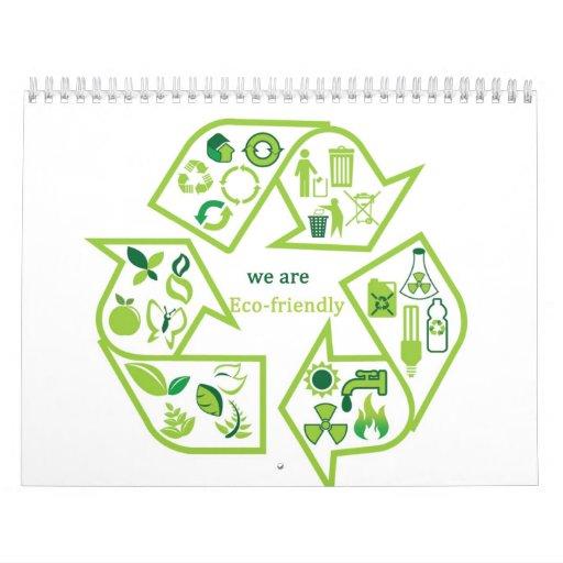 Environmentally eco-friendly green calendars