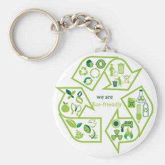 Environmentally eco-friendly green key chain