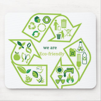 Environmentally eco-friendly mouse pads template