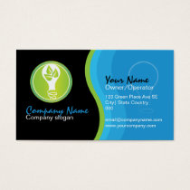 Environmentally friendly electrician company business card