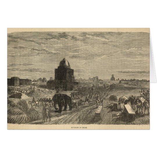 Environs of Delhi, 1857 Card