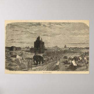 Environs of Delhi, 1857 Poster