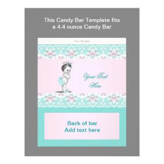 Envoltura azul y rosada del trullo de la fiesta de tarjeta publicitaria