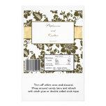 Envoltura de caramelo floral del boda del damasco  tarjeta publicitaria
