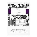 Envoltura de caramelo floral negra/púrpura del bod tarjetón
