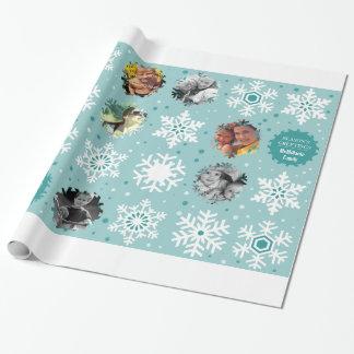 Envoltura de encargo del regalo del navidad de la papel de regalo