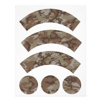 Envoltura de la magdalena del camuflaje del membretes personalizados