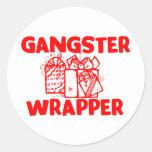 Envoltura del gángster pegatinas redondas
