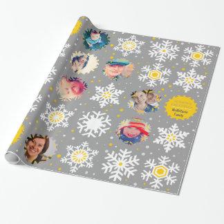 Envoltura del regalo del navidad de la foto de los papel de regalo