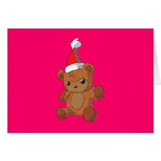 Envoltura roja linda del imán del gorra de Santa Felicitaciones