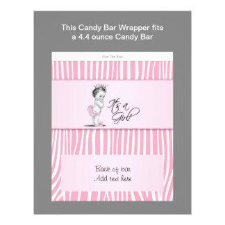 Envoltura rosada de la barra de caramelo de la fie tarjetas informativas
