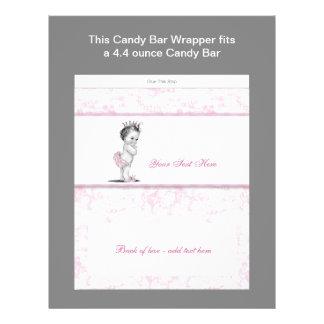Envoltura rosada de la barra de caramelo de la fie tarjetas publicitarias