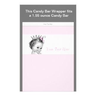 """Envoltura rosada de la barra de caramelo de la folleto 5.5"""" x 8.5"""""""