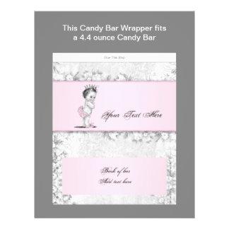 """Envoltura rosada de la barra de caramelo de la folleto 8.5"""" x 11"""""""